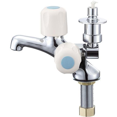 >π三栄水栓/SANEI 水栓金具【JF505TV-1-13】洗濯機用二口立水栓