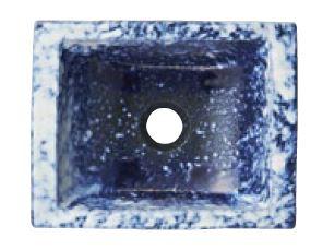『カード対応OK!』三栄水栓/SANEI 【HW1023-016】(本体のみ) 手洗器 利楽 碧空(へきくう) 四角半埋