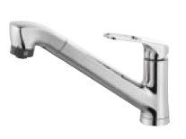 π三栄水栓/SANEI 水栓金具【K87120JK-U-13】寒冷地 シングルワンホールスプレー混合栓 (省施工ナット付)