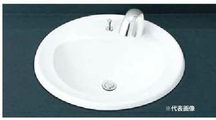 INAX 洗面器セット【L-2394AP】はめ込みだ円形洗面器(オーバーカウンター式) 自動水栓 AC100V仕様 AM-140TC(100V) 壁給水・壁排水(Pトラップ)