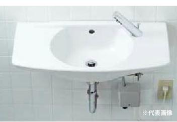 ▽INAX/LIXIL 洗面器セット【L-275FCR】カウンター一体形洗面器 自動水栓 AC100V仕様 AM-200V1 壁給水・壁排水(Pトラップ)