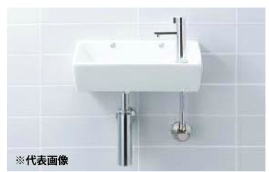 INAX 手洗器セット品番【L-35】角形手洗器(壁付式) 立水栓 LF-48 壁給水・床排水(Sトラップ)