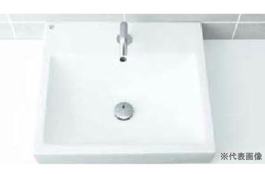 INAX 洗面器セット【L-536ANC】角形洗面器(ベッセル式) 自動水栓 AC100V仕様 AM-130TC(100V) 壁給水・壁排水(Pトラップ)