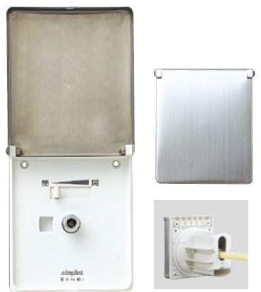 三栄水栓/SANEI 水栓金具【V96301ADS-3】水道用コンセント シンプレット 屋外用単水栓