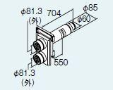リンナイ 部材【FFT-1370GN500】給排気筒トップ