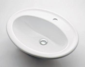 『カード対応OK!』カクダイ【#DU-0472560000】丸型洗面器//1ホール