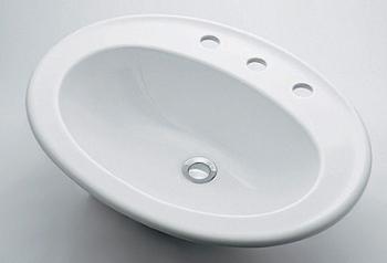 『カード対応OK!』カクダイ【#DU-0472620030】丸型洗面器//3ホール