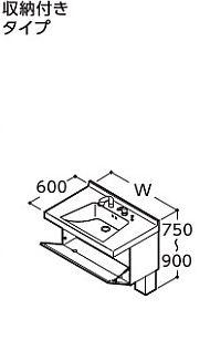人気 洗面化粧台 ##『カード対応OK!』TOTO  受注生産1週間:クローバー資材館 座ってラクラクシリーズ【LDSJ75FAR】(A・P・C) やわらかシャンプー水栓 正面中央レバー-木材・建築資材・設備