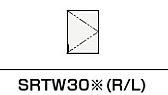 ###クリナップ S(エス) トール用ウォールキャビネット【SRTW30D】オークミディアム(木目)  スタンダードカラー