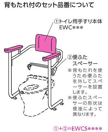 TOTO トイレ用手すり(システムタイプ) 【EWCS222-10】 背もたれ付