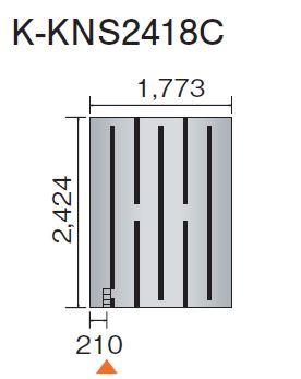 ## 『カード対応OK!』 ダイキン 床暖房パネル(床材分離型)【K-KNS2418C】ホッとエコ フロアパネル
