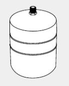 ♪ノーリツ 石油給湯器 部材【ST-8】膨張タンク(給湯・暖房兼用)