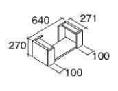 ###『カード対応OK!』パナソニック 【CHDA6FS】フロート オープン調整棚640 受注生産
