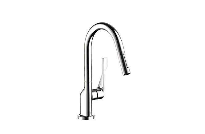■CERA/セラ【HG39835X】アクサーチッテリオ キッチン用湯水混合栓 スパウト引出しタイプ クロム