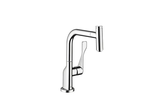 ■CERA/セラ【HG39861】アクサーチッテリオ キッチン用湯水混合栓 スパウト引出し手元止水タイプ クロム