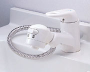《あす楽》◆15時迄出荷OK!INAX 水栓金具【SF-45S】ホース露出式 シングルレバー 洗髪 シャワー混合水栓 一般地