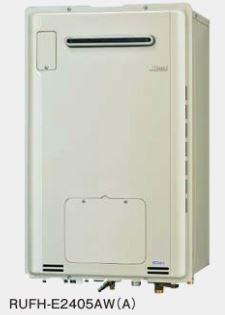 『カード対応OK!』###リンナイ ガス給湯暖房用熱源機【RUFH-E2405AW(A)】 屋外壁掛型 フルオート ecoジョーズ 暖房能力11.6kW 1温度 24号