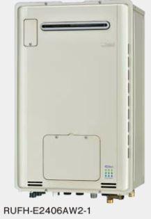 『カード対応OK!』###リンナイ ガス給湯暖房用熱源機【RUFH-E2406AW2-1】 屋外壁掛型 フルオート ecoジョーズ 暖房能力14.0kW 床暖房6系統熱動弁内蔵 24号