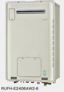 『カード対応OK!』###リンナイ ガス給湯暖房用熱源機【RUFH-E2406SAW2-6】 屋外壁掛型 オート ecoジョーズ 暖房能力14.0kW 床暖房6系統熱動弁内蔵 24号