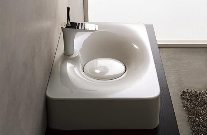 オリジナル 洗面器 700×430:クローバー資材館 (洗面器のみ) ホワイト 『カード対応OK!』?CERA/セラ 洗面・手洗【SB6004】フジ-木材・建築資材・設備
