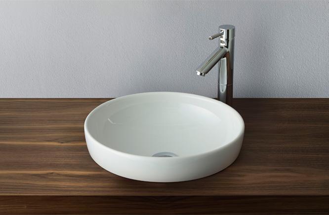 ∬∬■CERA/セラ 洗面・手洗【VR4334R】ウォータージュエル (洗面器のみ) 洗面器 ホワイト φ400