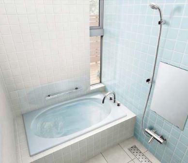 ###INAX/LIXIL グラスティN浴槽【ABND-1300HPR】サーモバスS エプロン:なし 満水量質量:250L32kg プッシュワンウェイ ハンドグリップ 受注約2週