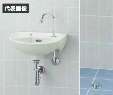 INAX/LIXIL 医療施設用手洗【L-15AG】セット品番 平付大型手洗器(壁付式) 足踏式手洗水栓(LF-43U) 床排水(Sトラップ) 受注生産