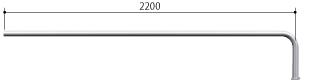 ####u.サンポール/SUNPOLE【AA-42BJ24-E】自転車アーチ ステンレス製 φ42.7 ジョイント式 エンド支柱 ベース式 受注約3週