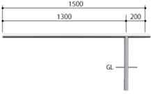 ####u.サンポール/SUNPOLE【AA-42UJ15-P】自転車アーチ ステンレス製 φ42.7 ジョイント式 中間支柱 固定式 受注約3週