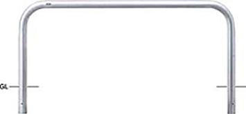 ####u.サンポール/SUNPOLE【AA-8U20-800】アーチ ステンレス製 φ76.3 W2000 H800 固定式 受注約3週
