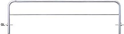 ####u.サンポール/SUNPOLE【AH-7SF30-650】アーチ ステンレス製 φ60.5 W3000 H650 差込式フタ付 受注約3週