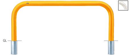 ####u.サンポール/SUNPOLE【FAA-11S20-800(W)】アーチ 白 スチール製 φ101.6 W2000 H800 差込式 受注約3週