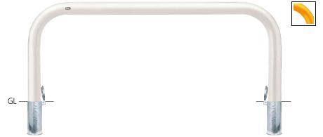 ####u.サンポール/SUNPOLE【FAA-11SF20-800(W)】アーチ 白 スチール製 φ101.6 W2000 H800 差込式フタ付 受注約3週