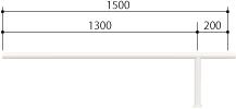 ####u.サンポール/SUNPOLE【FAA-42BJ15-P(W)】自転車アーチ スチール製 φ42.7 ジョイント式 中間支柱 ベース式 受注約3週