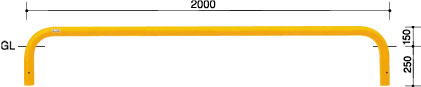 ####u.サンポール/SUNPOLE【FAA-7U20-150(W)】アーチ 白 スチール製 φ60.5 W2000 H150 固定式