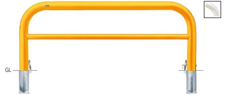 正規品! ####u.サンポール/SUNPOLE【FAH-11SK20-800(W)】アーチ 白 スチール製 φ101.6 W2000 H800 差込式カギ付 受注約3週, ペーパーアイテム スタジオK dc6eaff5