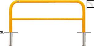 ####u.サンポール/SUNPOLE【FAH-7S15-650(W)】アーチ 白 スチール製 φ60.5 W1500 H650 差込式