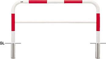 <title>☆☆FAH 7S15 800 RW ####u.サンポール SUNPOLE FAH-7S15-800 アーチ 100%品質保証! 赤白 スチール製 φ60.5 W1500 H800 差込式</title>