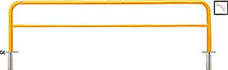 ####u.サンポール/SUNPOLE【FAH-7S30-800(Y)】アーチ 黄 スチール製 φ60.5 W3000 H800 差込式