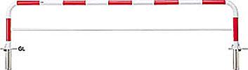 ####u.サンポール/SUNPOLE【FAH-7SK30-650(RW)】アーチ 赤白 スチール製 φ60.5 W3000 H650 差込式カギ付