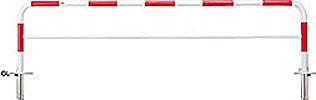 スチール製 H800 赤白 ####u.サンポール/SUNPOLE【FAH-7SK30-800(RW)】アーチ W3000 φ60.5 差込式カギ付