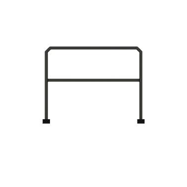 ####u.サンポール/SUNPOLE【FKH-63M10-800】角パイプアーチ スチール W1000 H800 据置式 受注約3週