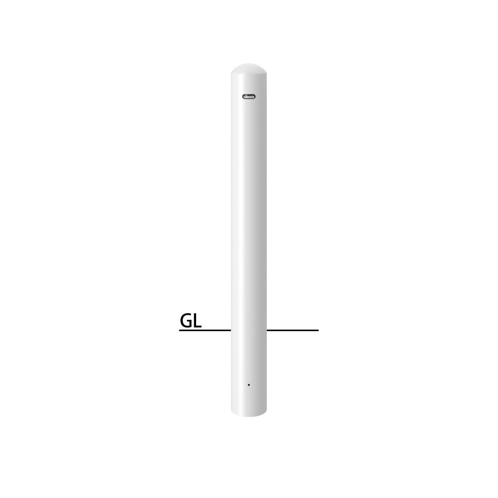 ####u.サンポール/SUNPOLE【FPA-12U-F00(W)】ピラー 白 スチール製 φ114.3 H850 固定式 フックなし 受注約3週