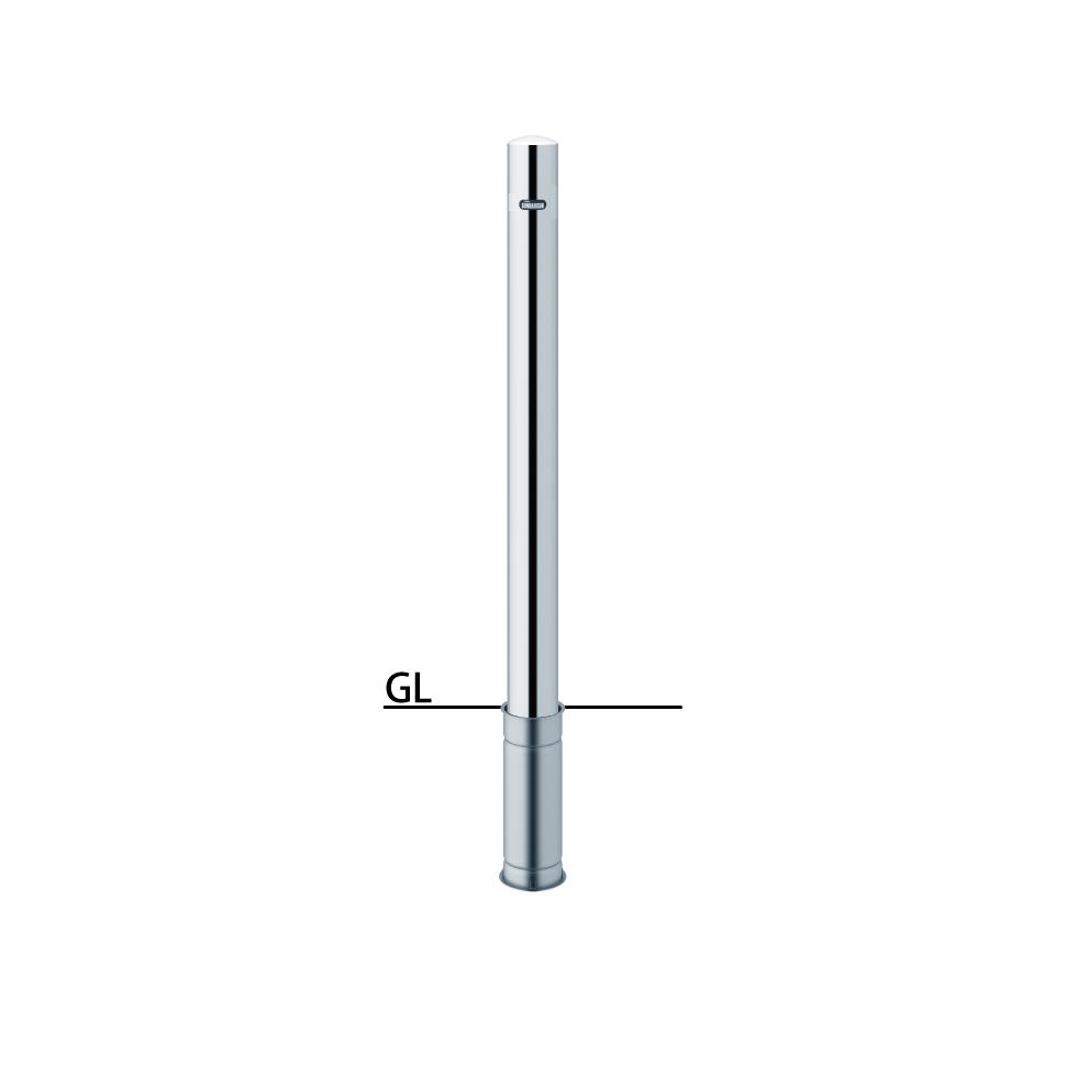 ####u.サンポール/SUNPOLE【PA-8S-F00】ピラー ステンレス製 φ76.3 H850 差込式 フックなし