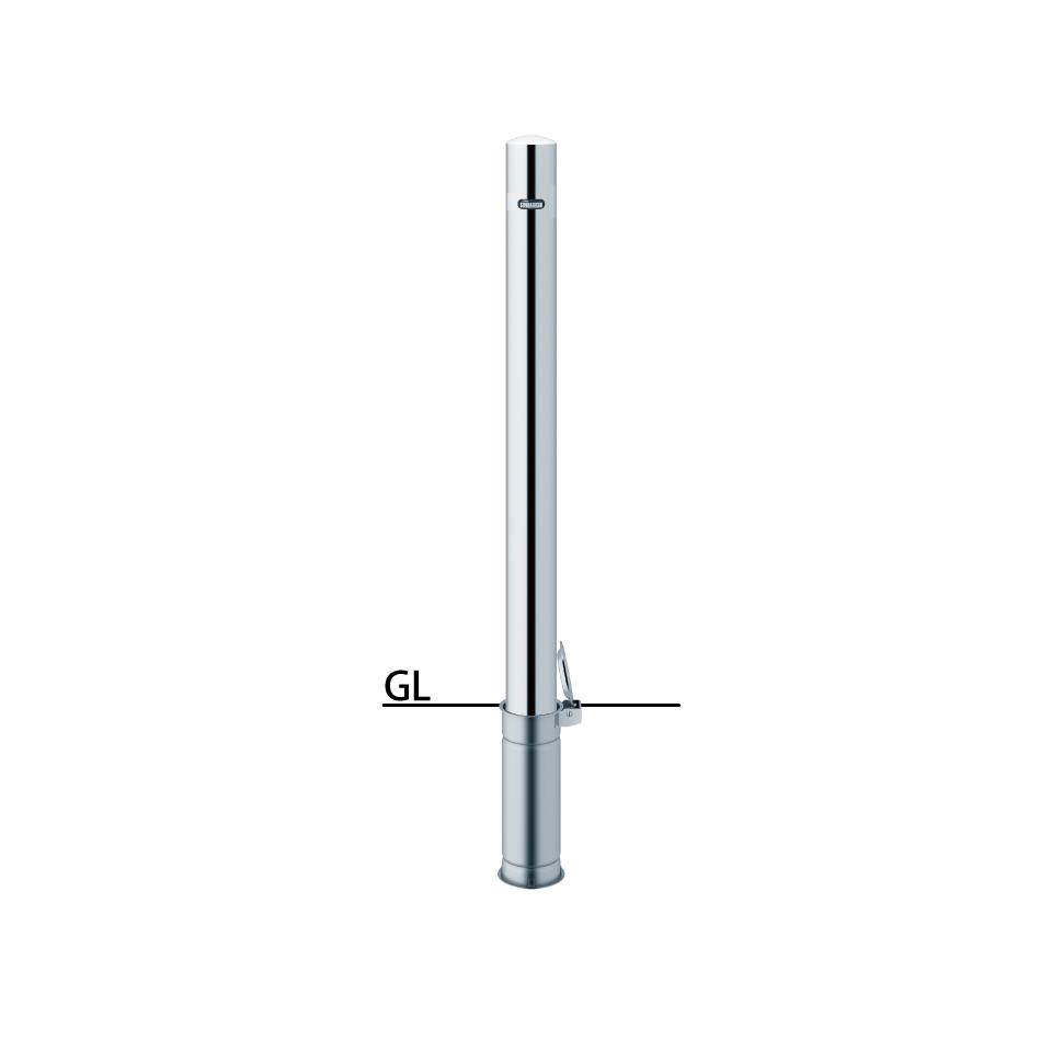 ####u.サンポール/SUNPOLE【PA-8SF-F00】ピラー ステンレス製 φ76.3 H850 差込式フタ付 フックなし