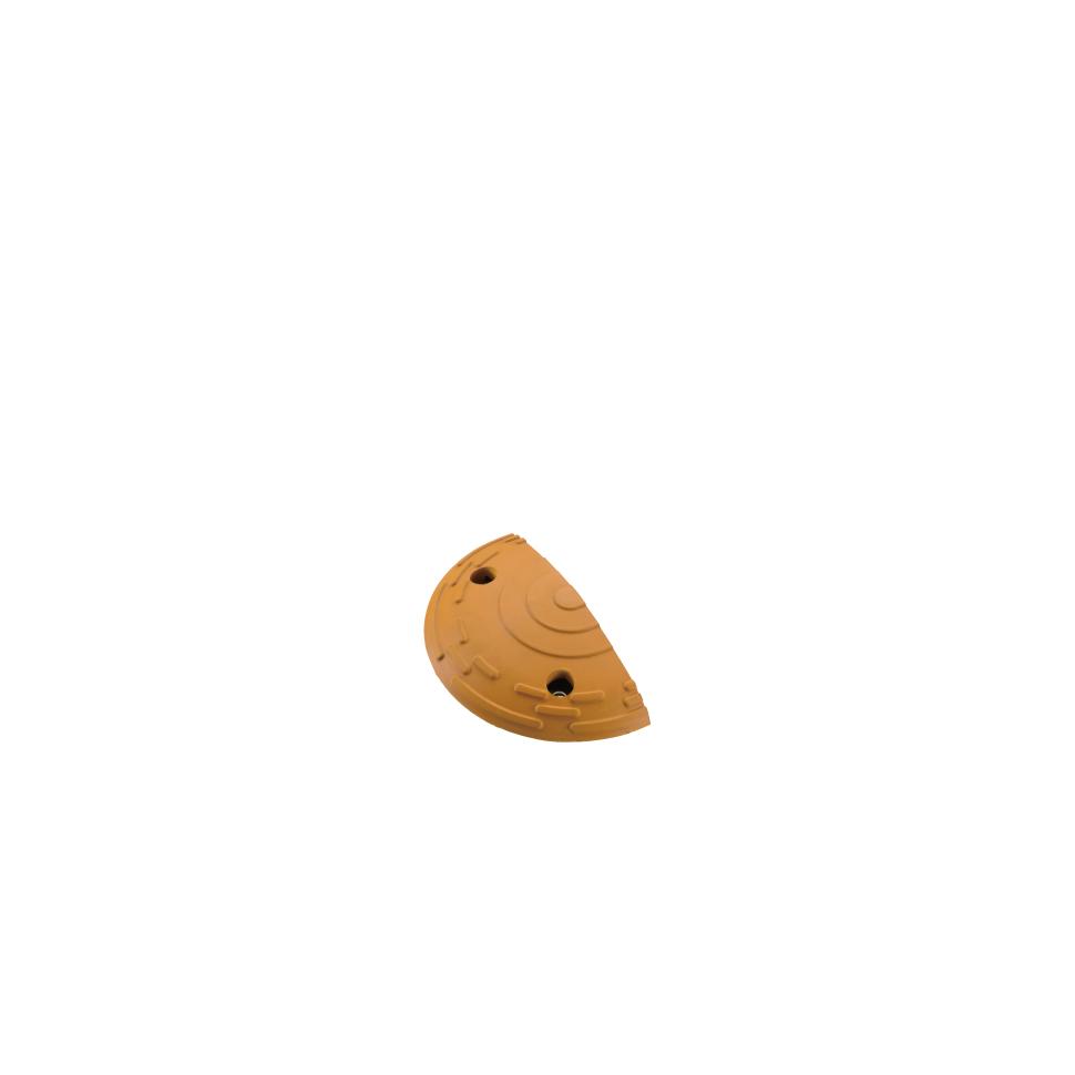 ####u.サンポール/SUNPOLE【RHP-3060-E(Y)】ハンプ(減速板) リサイクルゴム製 イエロー (2個入り) 受注約3週