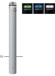 ####u.サンポール/SUNPOLE【RP-231U-F-SOL(NG)】ソーラーLEDボラード グリーン φ115 リサイクルプラスチック 点灯式 固定式 受注約3週