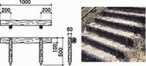####u.サンポール/SUNPOLE【RPS-1SP10】擬木ステップ W1000 一段ステップ 受注約3週