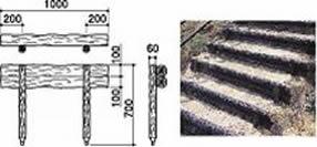####u.サンポール/SUNPOLE【RPS-2SP10】擬木ステップ W1000 二段ステップ 受注約3週