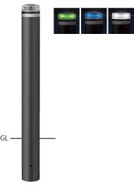 ####u.サンポール/SUNPOLE【V-231U-SOL(G)】ソーラーLEDボラード グリーン φ115 アルミ製 点灯式 固定式 受注約3週